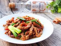 蔥爆豬肉絲-38度金門高粱酒