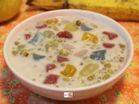 椰奶七彩粉圓綠豆湯