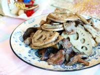 香菇蓮藕炒肉片