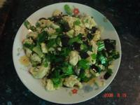 黑木耳韭菜蛋炒