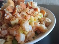 家常宴客菜 - 蘋果蝦鬆