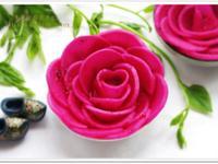 [火龍果醃蘿蔔]嬌豔玫瑰涼拌菜