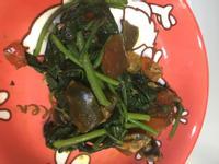 地瓜葉炒皮蛋
