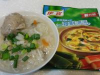 海鮮吻仔魚粥vs康寶海鮮濃湯包