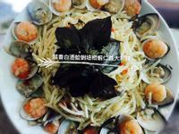 蒜香白酒蛤蜊培根蝦仁義大利麵