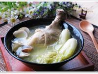 [娃娃菜蛤蠣蒜頭雞湯]鮮上鮮美味