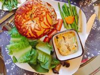 週末早午餐-鮮蔬烘蛋與貝果
