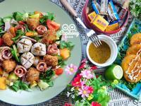 法式芥末籽蔬果海陸沙拉