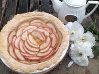 浪漫玫瑰蘋果酥皮派♥!!!