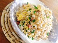 低脂德國香腸玄米炒飯一超簡單,粒粒分明