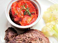[SDS] 迷迭香番茄, 嫩煎牛排 與白花椰菜