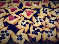草莓酥派和藍莓風車酥派塔❤!!!
