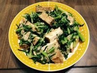 胡麻醬拌春菊油豆腐