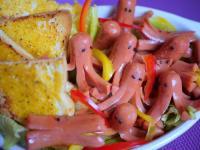 ♫【深夜食堂】西式紅章魚佐沙拉「赤いウインナ」