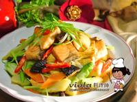 什錦娃娃菜鮭魚燒-年菜料理