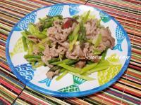 綠蘆筍炒豬肉片
