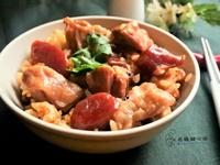 香腸蝦米雞肉飯(電鍋版)