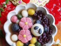 熊貓&花朵造型湯圓