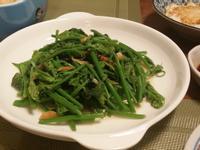 櫻花蝦炒龍鬚菜