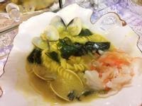 紅薑黃義式海鮮巧達濃湯麵