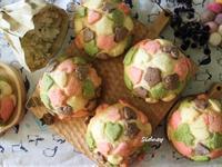 粉彩菠蘿麵包