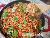 鑄鐵鍋 櫻花蝦油飯 (電鍋也可以做喔!)