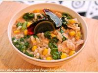 黑木耳蔬菜肉片粥.柯媽媽の植物燕窩