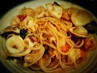 茄汁海鮮義大利麵