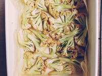 蜂蜜橄欖油烤白花椰菜