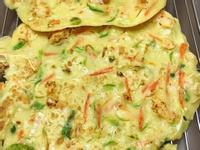 櫛瓜(西葫蘆)高麗菜海鮮煎餅