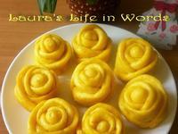 金黃南瓜玫瑰花饅頭
