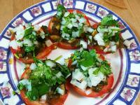 夏天開胃前菜皮蛋蕃茄