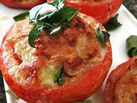 焗烤起司蕃茄鑲肉盅