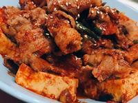 韓式料理-燉五花肉豆腐(대패두부조림)