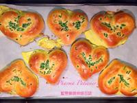愛心蔥花鹹麵包,濃濃的台灣童年回憶~