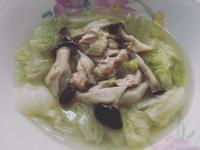 白菜菇菇雞湯