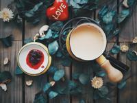 鍋煮玫瑰奶茶