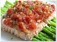 [番茄起司鮭魚]簡單3步驟不必煎一樣美味