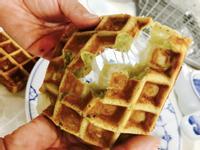 抹茶麻糬格子鬆餅