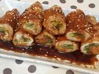 韓式泡菜年糕豬肉捲