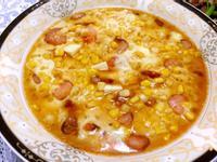 蝦仁玉米豆漿蛋