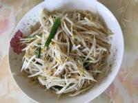 黑胡椒炒豆芽菜