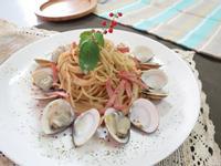 清炒火腿蛤蠣義大利麵