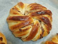紅豆花型麵包 簡易。家常烘焙。早餐