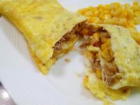 椰子風味玉米鮪魚聰明蛋捲(椰子油料理)