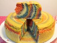 彩虹母親節蛋糕
