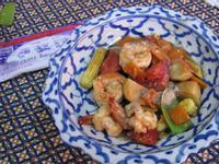 泰國學回來的泰式蔬菜炒草蝦