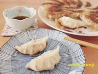 冰花煎香菇煎餃子 簡易。家常菜。午餐