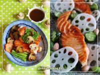 香煎鮭魚佐山葵油醋(巴薩米克醋料理)