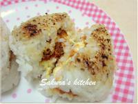 ♥我的手作料理♥ 日式芝司樂烤飯糰
